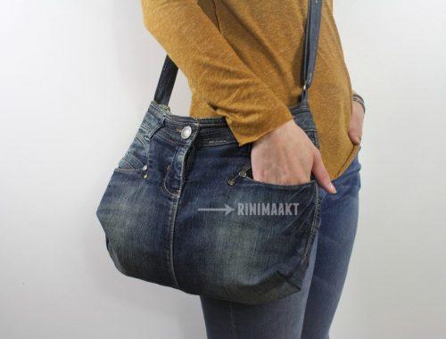 spijkerbroek schoudertas