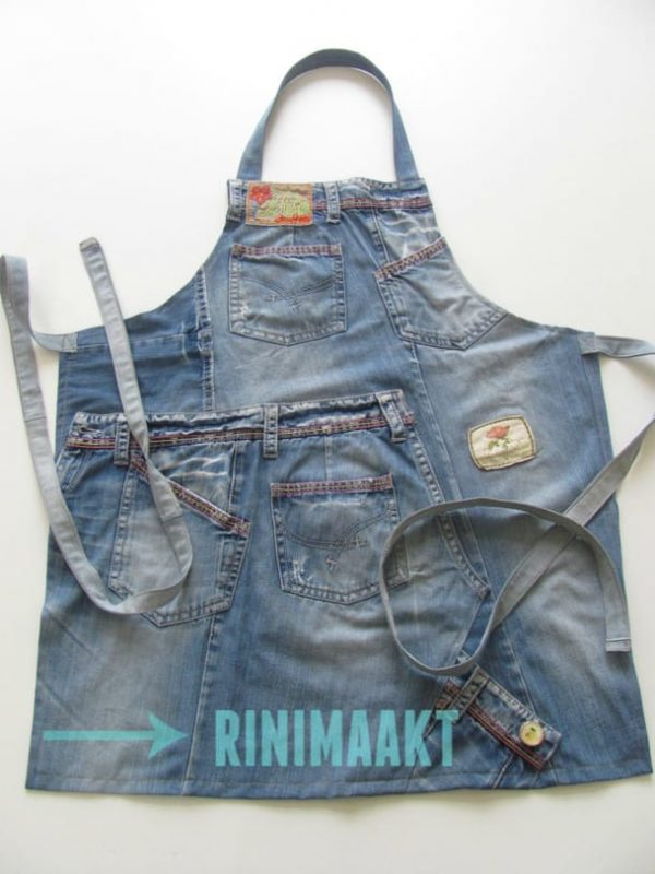rinimaakt rini maakt schort keukenschort spijkerbroek spijkerbroeken jeans kitchen apron