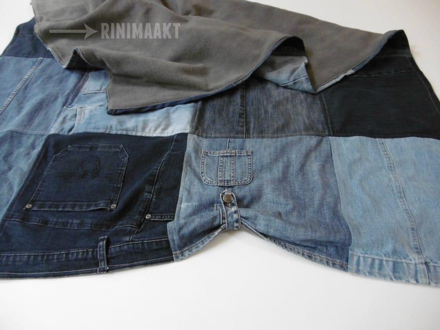 rinimaakt Rini maakt rini spijkerbroekdeken spijkerbroek deken fleece