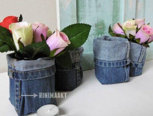 rinimaakt Rini Maakt rini maakt spijkerbroek potje glaasje