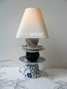 rinimaakt Rini maakt rini lampen servies serviesgoed lamp DIY Do it youself doe het zelf