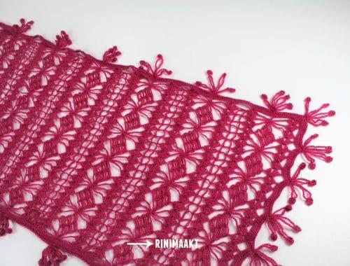 rinimaakt Rinimaakt Rini maakt Maakt haken sjaal Tendril wrap tendril wrap DIY crochet