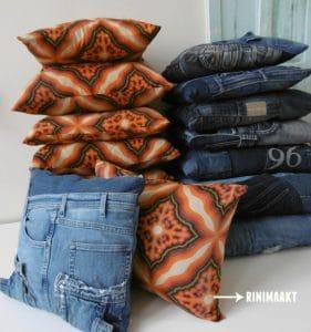 rinimaakt Rinimaakt rini maakt Rini spijkerbroeken kussens café Schiller Aalten DIY