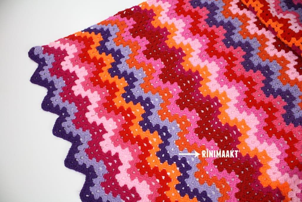 rinimaakt zigzag deken haken crochet blanket