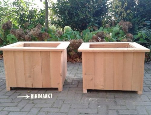 rinimaakt houten plantenbak