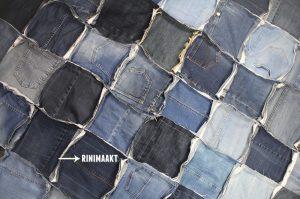 rinimaakt.nl Rini maakt spijkerbroek roosjes deken