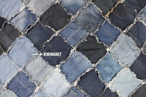 rinimaakt Rini maakt spijkerbroeken deken