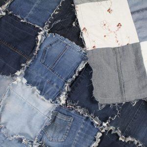 rinimaakt Rini maakt spijkerbroeken deken jeans blanket