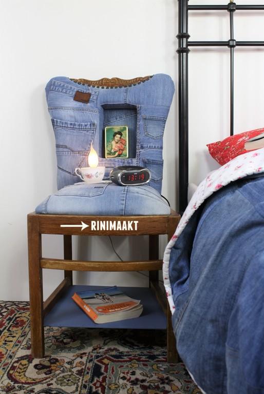rinimaakt.nl nachtkastje spijkerbroeken jeans meubels