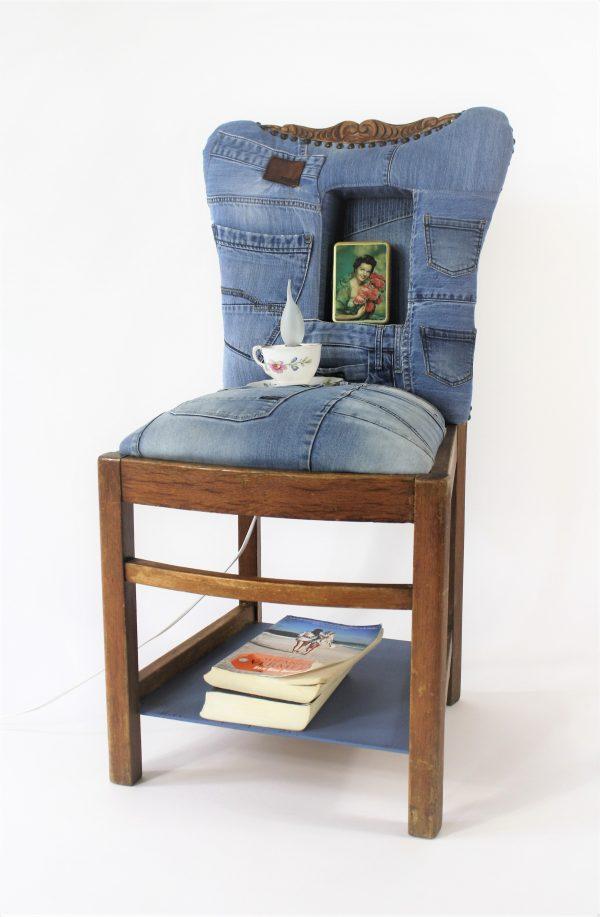 rinimaakt.nl nachtkastje spijkerbroeken jeans chair