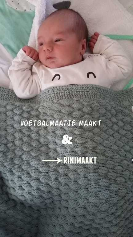 rinimaakt.nl baby dekentje bubbelsteek breien