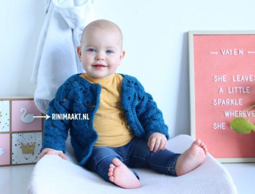 gehaakt baby vest met waaiers maat 74