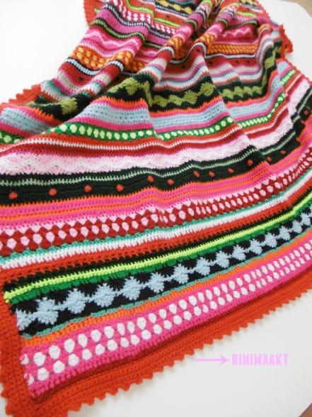 Wonderlijk Gehaakte kinder deken, CAL 2014 Crochet ALong - rinimaakt OB-29