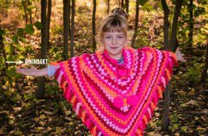 rinimaakt rini maakt poncho Donna haken kidsopdefoto.nl kids op de foto. nl