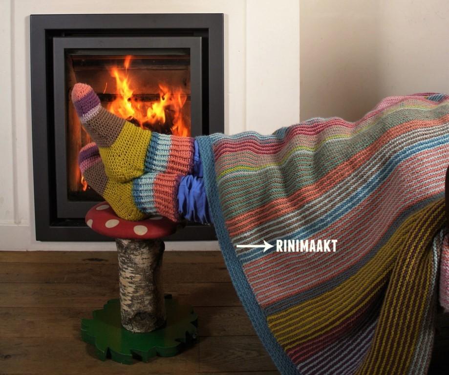 gebreide deken