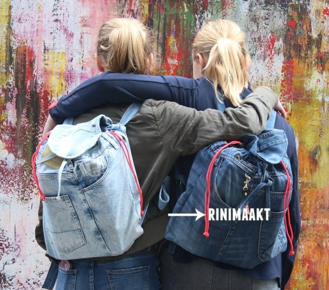 rinimaakt.nl spijkerbroek rugzak jeans backpack