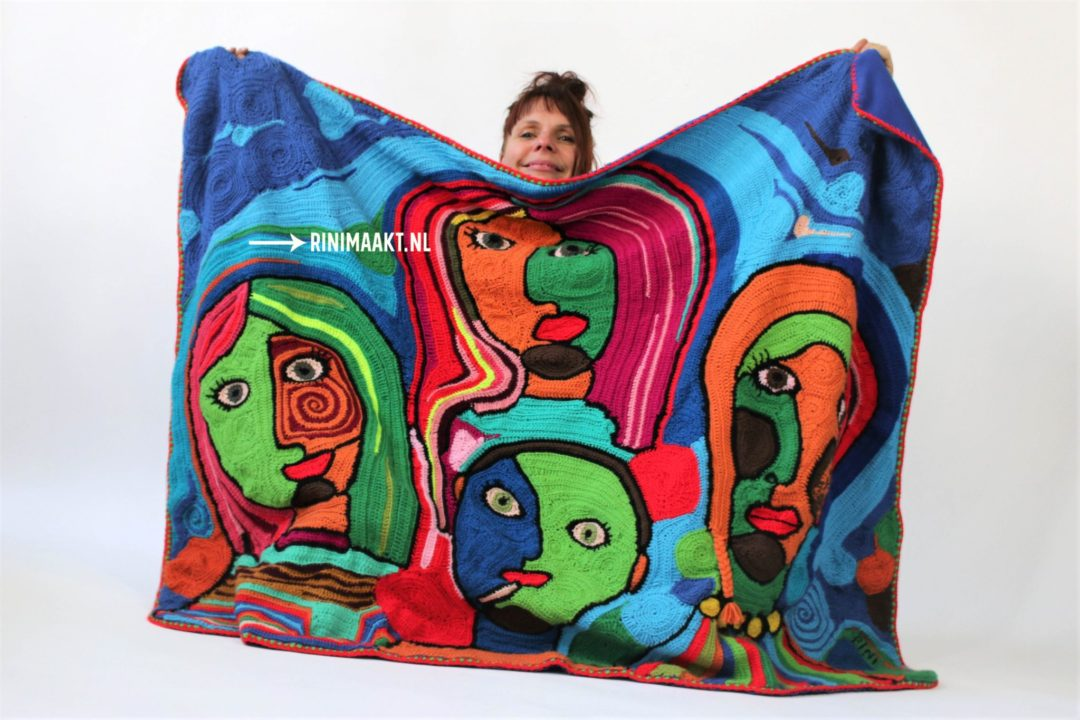 free form crochet familie portret