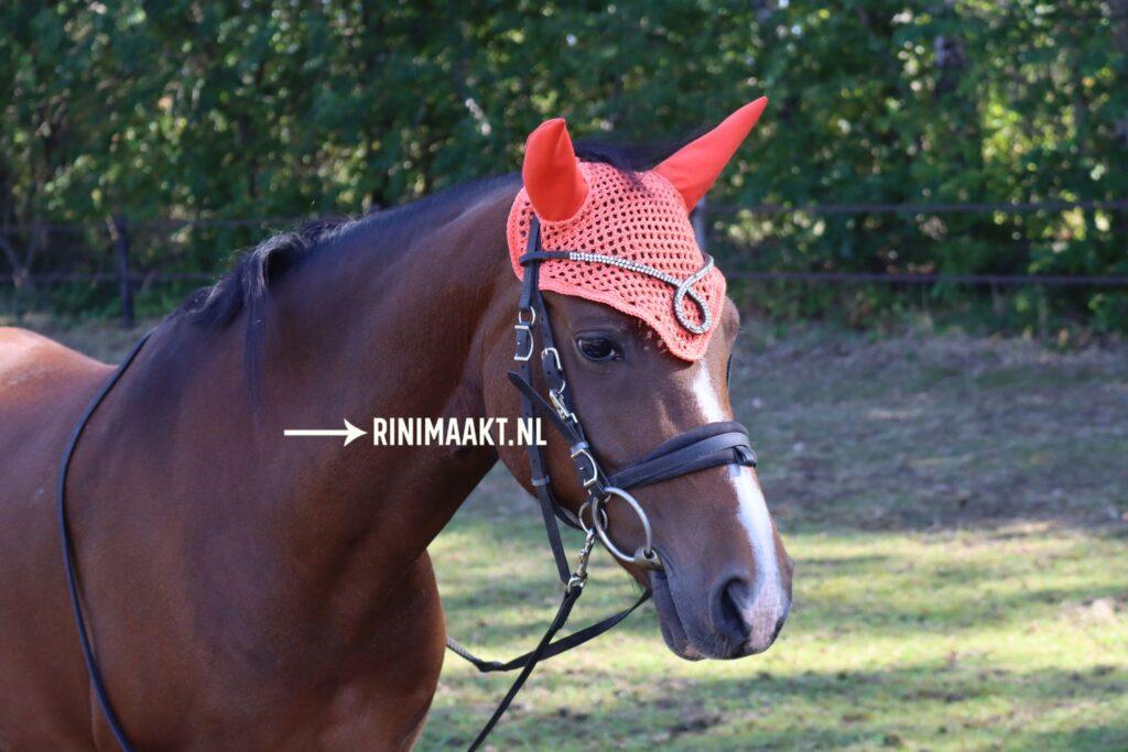 gehaakt oornetje voor paarden pony's en Shetlanders